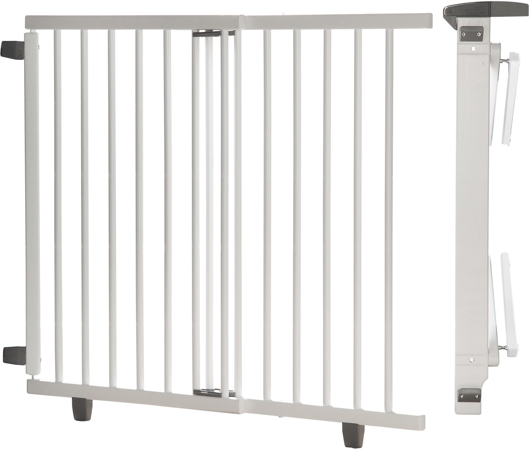 Geuther Schwenk-Treppenschutzgitter aus Holz, »Plus, weiß, 95-135 cm«