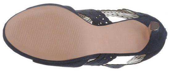 heel Bullboxer muster sandalette Mit High Navy Hübschen Lasercut g6ybY7f