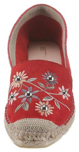 Mit Blütenstickerei Betty Barclay Espadrille Shoes qBS4H4f