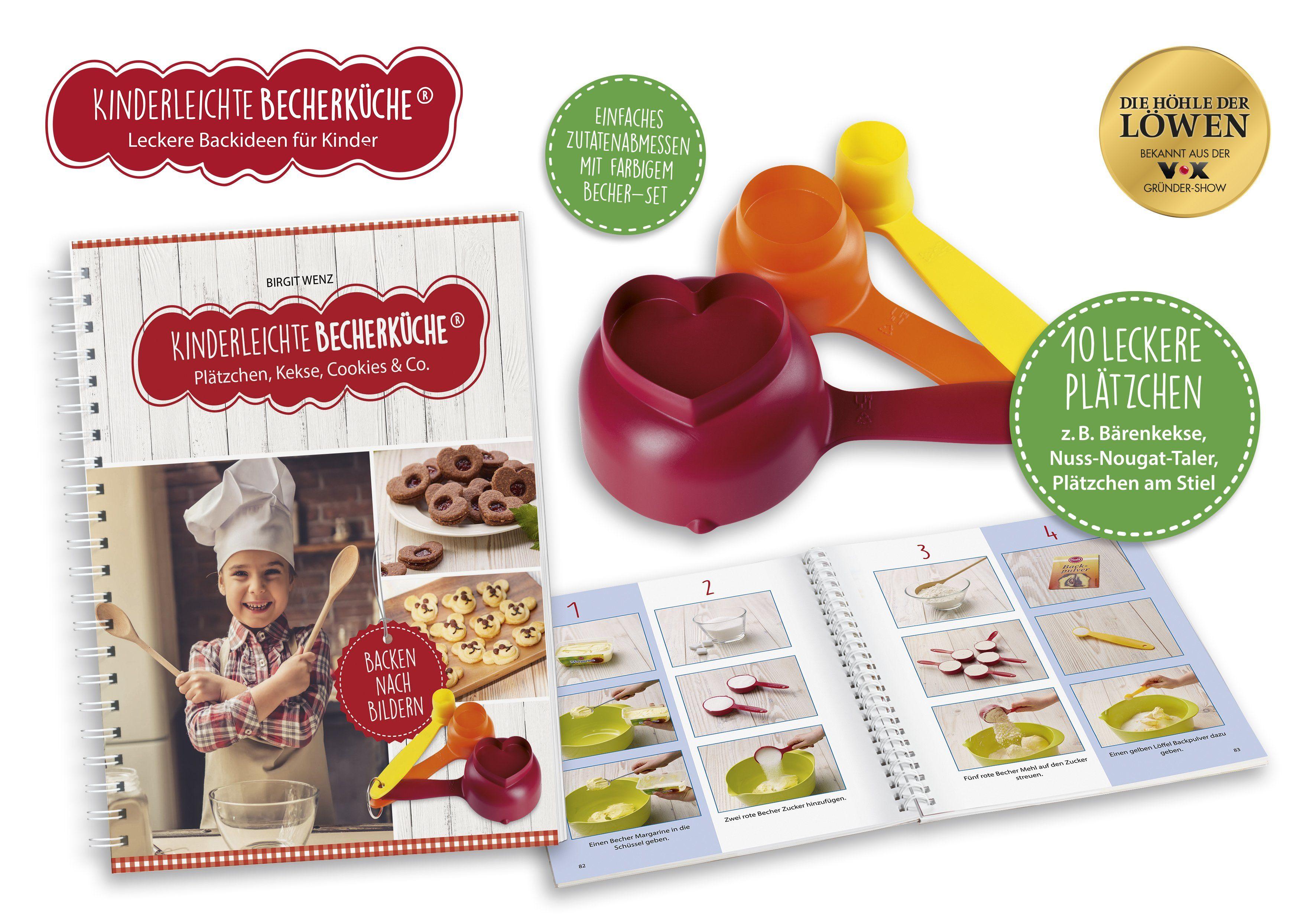Kinderleichte Becherküche, Plätzchen inkl. 3x Messbecher