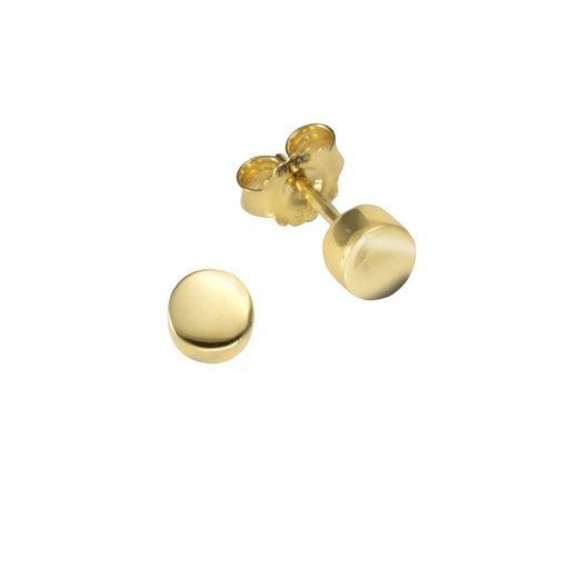 Vivance Ohrstecker »925-/ Sterling Silber vergoldet«