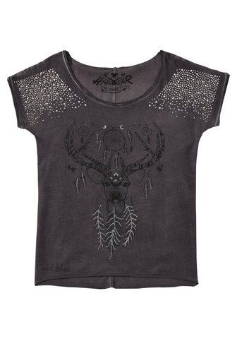 HANGOWEAR Marškinėliai Moterims su Glitzermotiv