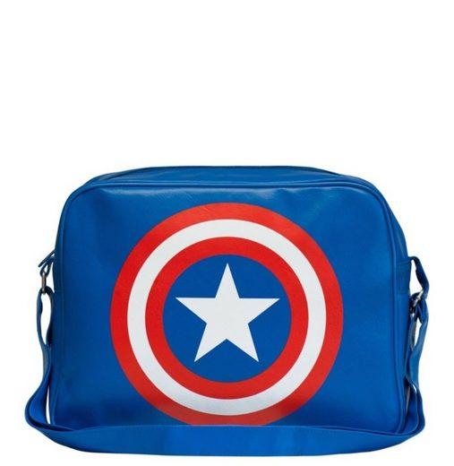 Shield« Schild frontdruck Captain Logoshirt »captain Mit Tasche Schild America ZqxZY8SUw