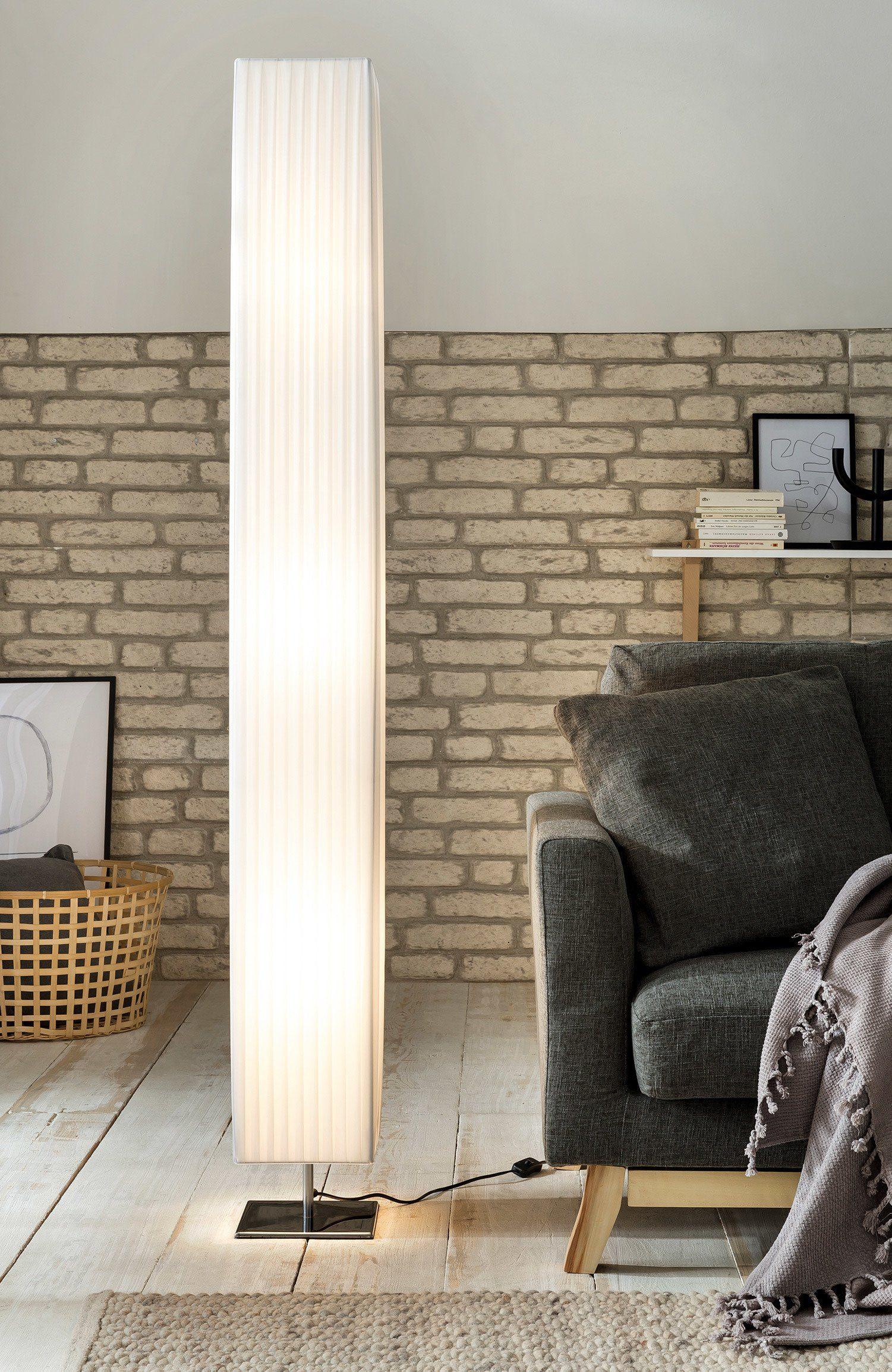 SalesFever Stehlampe im Art Deco Design eckig 170 cm