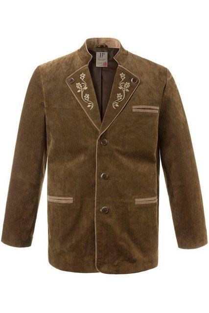 jp1880 -  Lederjacke bis 7 XL, Trachtenjanker, Wildleder Jacke mit Stickerei & Stehkragen