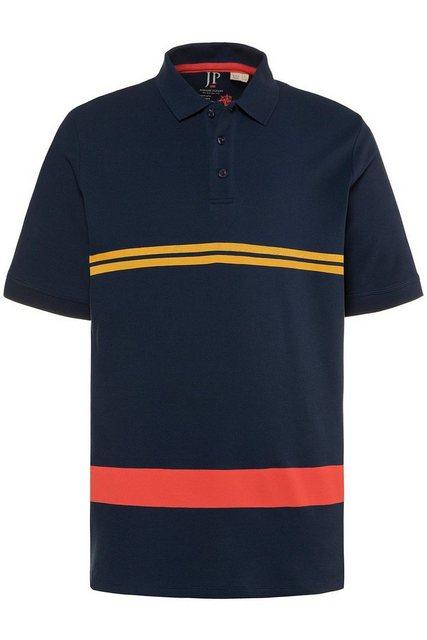 jp1880 -  Poloshirt bis 7XL, Poloshirt aus Piqué, T-Shirt mit Ringel, kleiner Kompass-Stick, Polokragen, reine Baumwolle