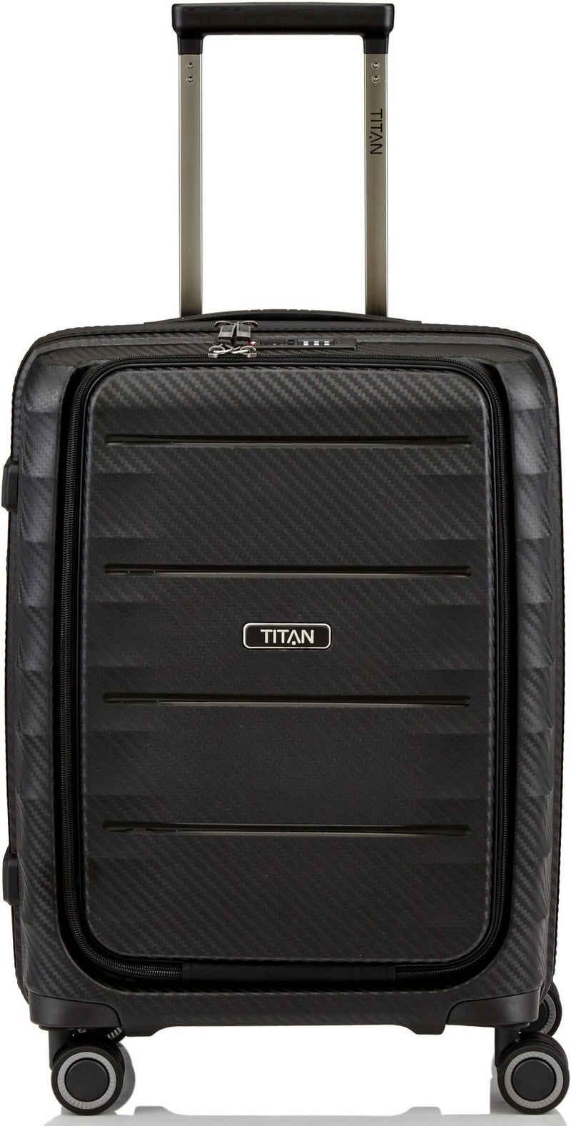 TITAN® Hartschalen-Trolley »Highlight, 55 cm«, 4 Rollen, Frontfach
