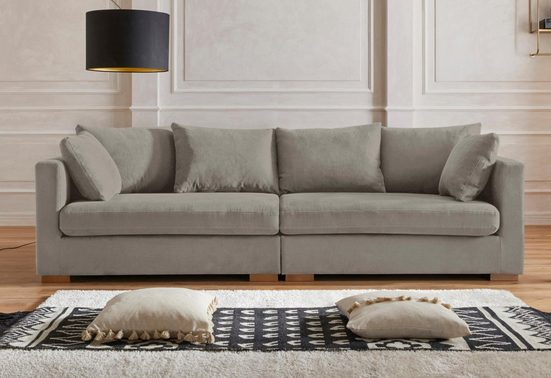 Guido Maria Kretschmer Home&Living Big-Sofa »Arles«, Bezug im Baumwoll-/Leinenmix, mit Eichenbeinen