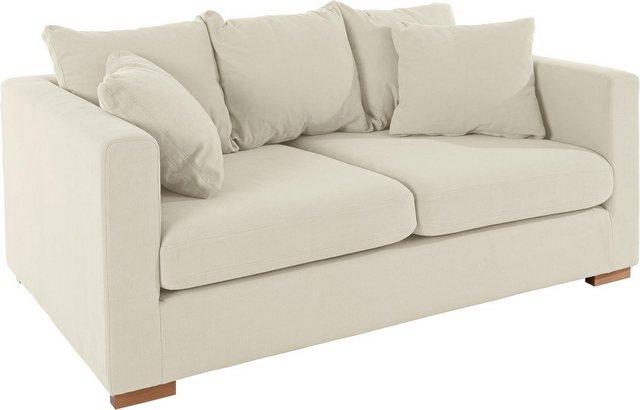 Sofas - Guido Maria Kretschmer Home Living 2 Sitzer »Arles«, Bezug im Baumwoll Leinenmix, mit Eichenbeinen  - Onlineshop OTTO