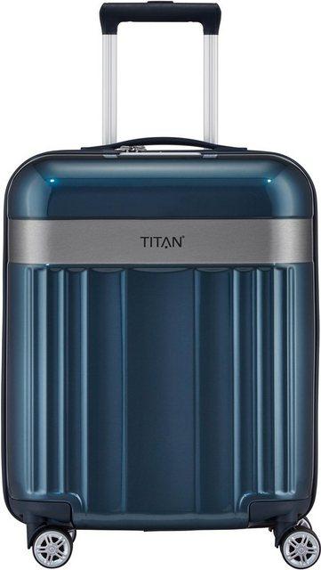 TITAN® Hartschalen-Trolley »Spotlight Flash, North Sea, 55 cm«, 4 Rollen   Taschen > Koffer & Trolleys > Trolleys   Polycarbonat - Abs   TITAN®