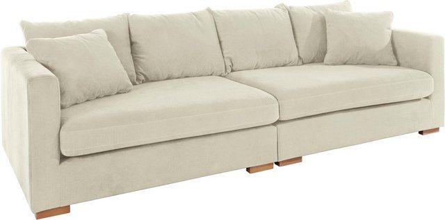 Sofas - Guido Maria Kretschmer Home Living Big Sofa »Arles«, Bezug im Baumwoll Leinenmix, mit Eichenbeinen  - Onlineshop OTTO