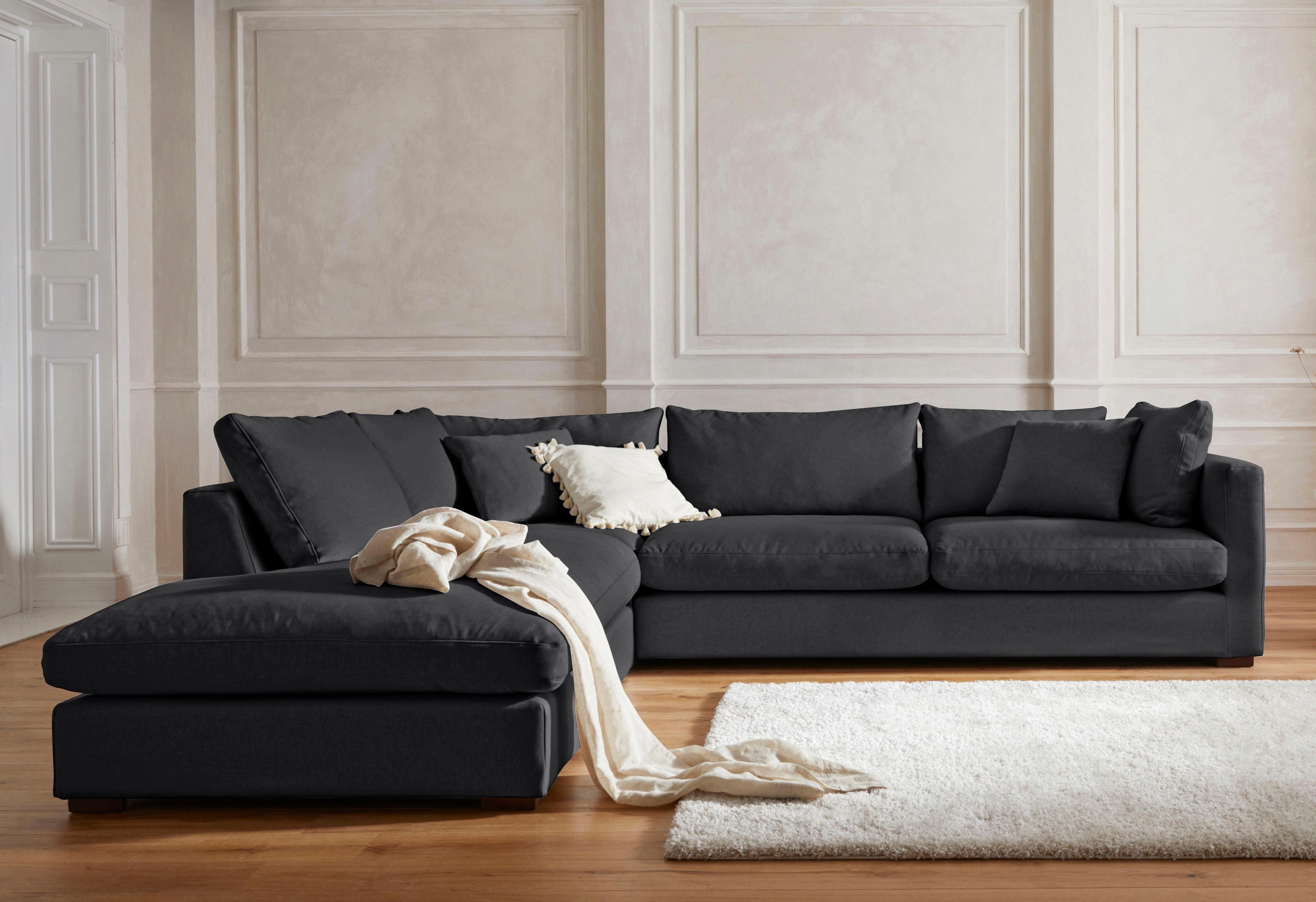 Guido Maria Kretschmer Home&Living Ecksofa »Pantin«, extra weich und kuschelig, Füllung auch mit Federn und Daunen