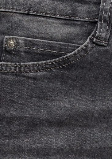 Skinny Am fit jeans Stickerei Bohemian« Perlen Und Saum »skinny Mit Mac Baxwzda