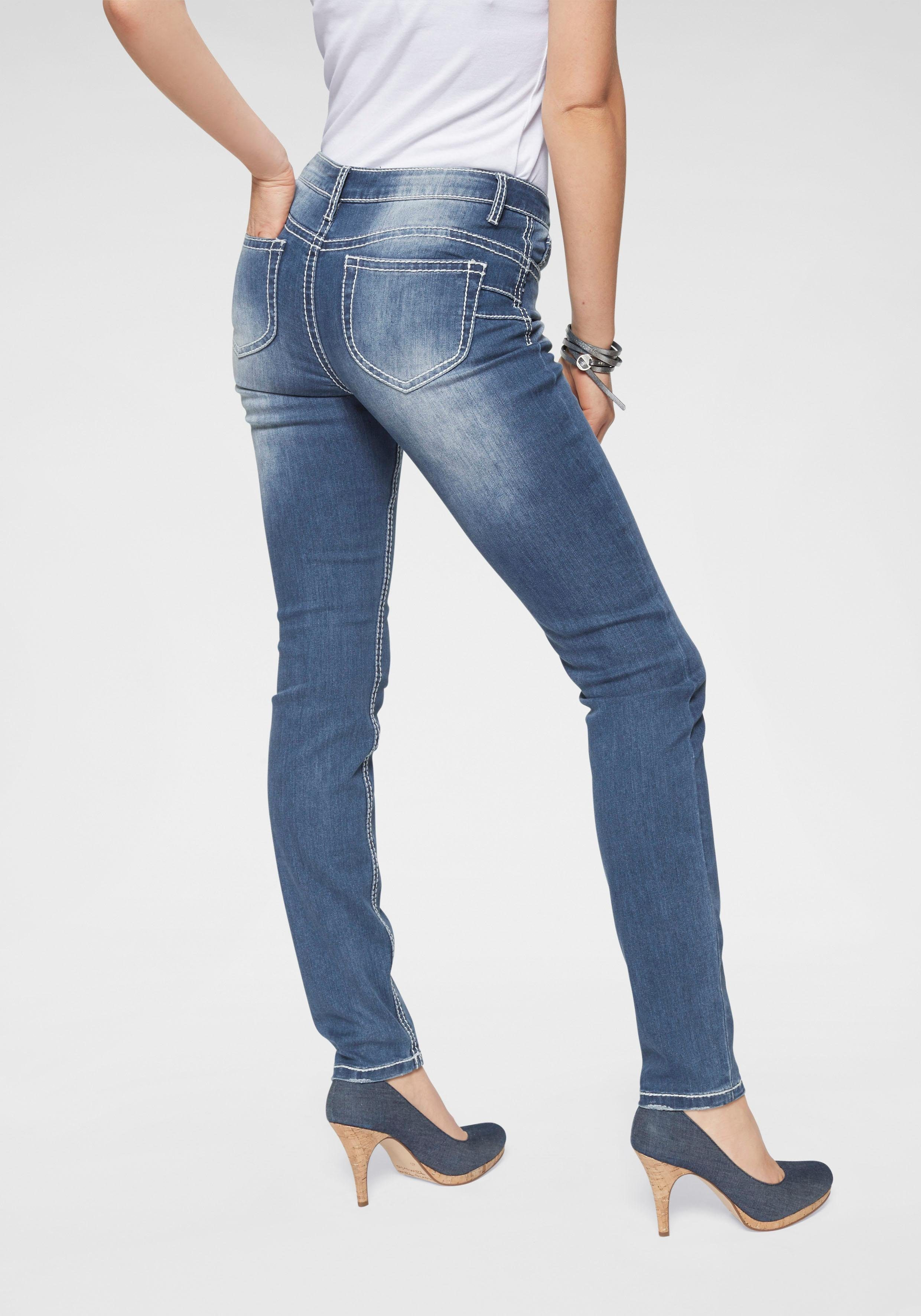 Arizona Slim fit Jeans »Heavy Washed Shaping« Mid Waist online kaufen | OTTO