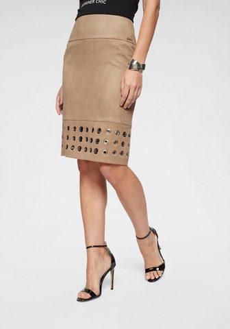 BRUNO BANANI Dirbtinės odos sijonas