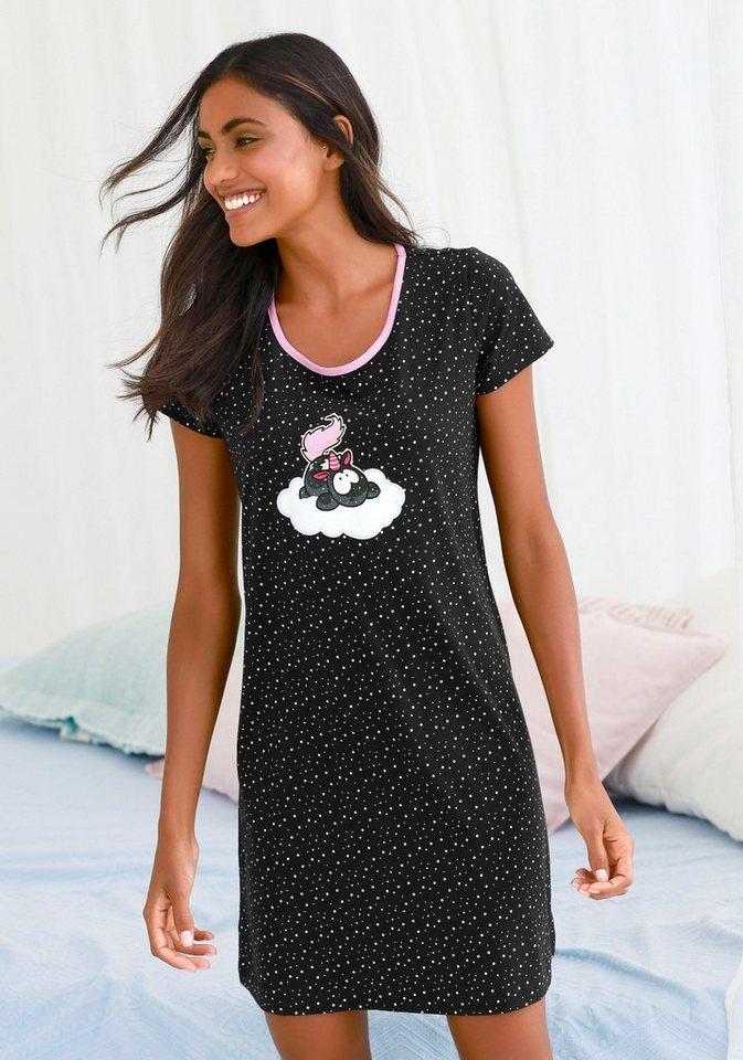 0fc3c55c7c NICI Nachthemd im Pünktchenmuster mit Einhorn-Print online kaufen | OTTO