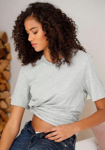 Calvin Klein T-Shirt (2er-Pack) mit Logodruck vorn