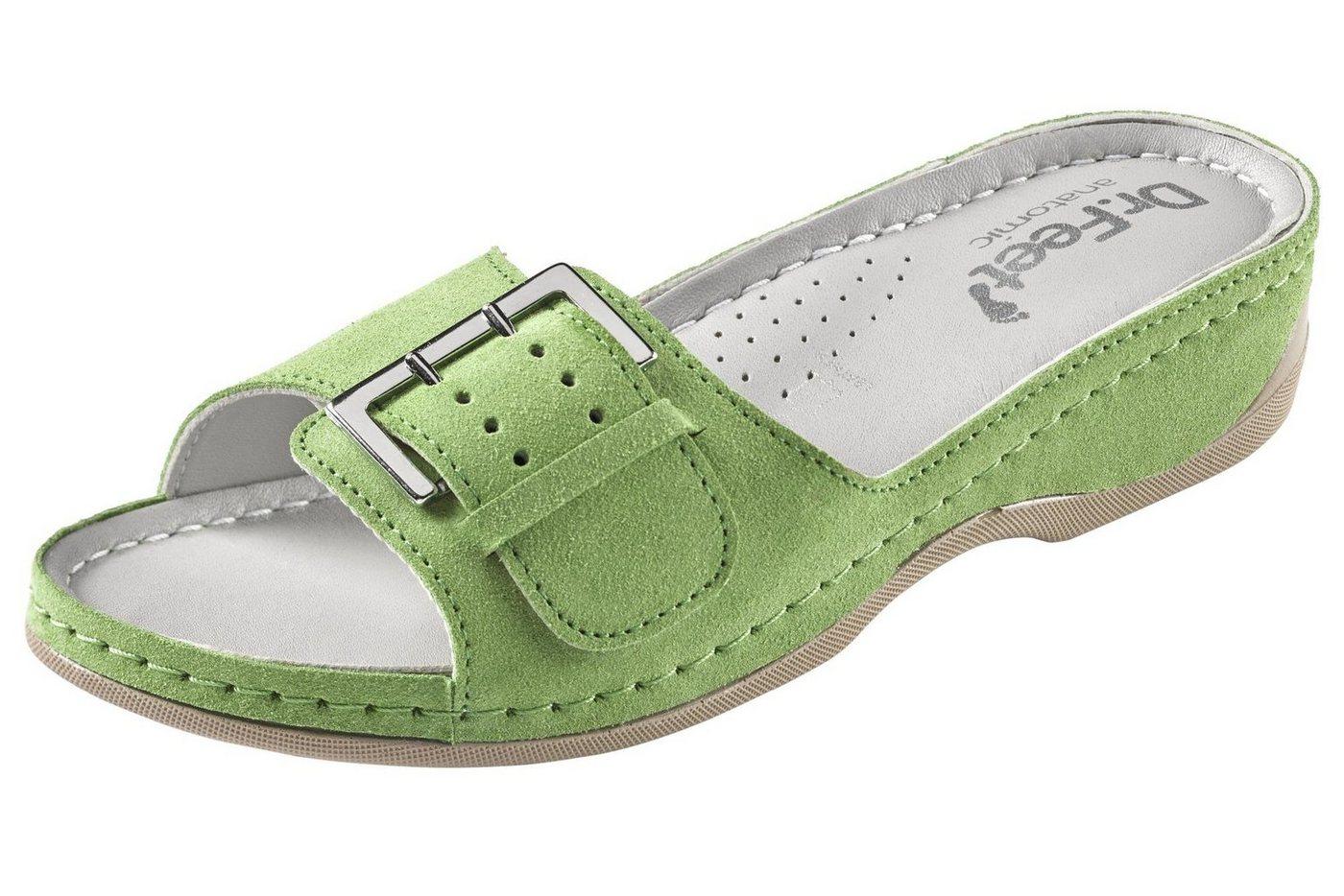 heine home Hausschuhe aus Leder | Schuhe > Hausschuhe | Grün | heine home