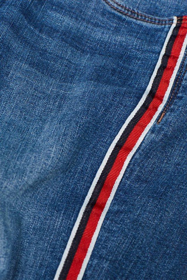 Esprit Stretch-Jeans mit Racing-Streifen