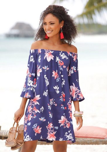 Beachtime Blusenkleid aus gewebter Viskose