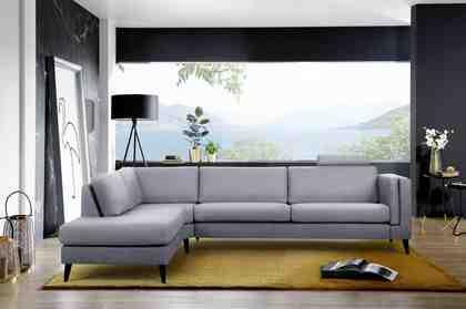 Places of Style Ecksofa »Magalie« mit Ottomanenabschluß in edlem Design