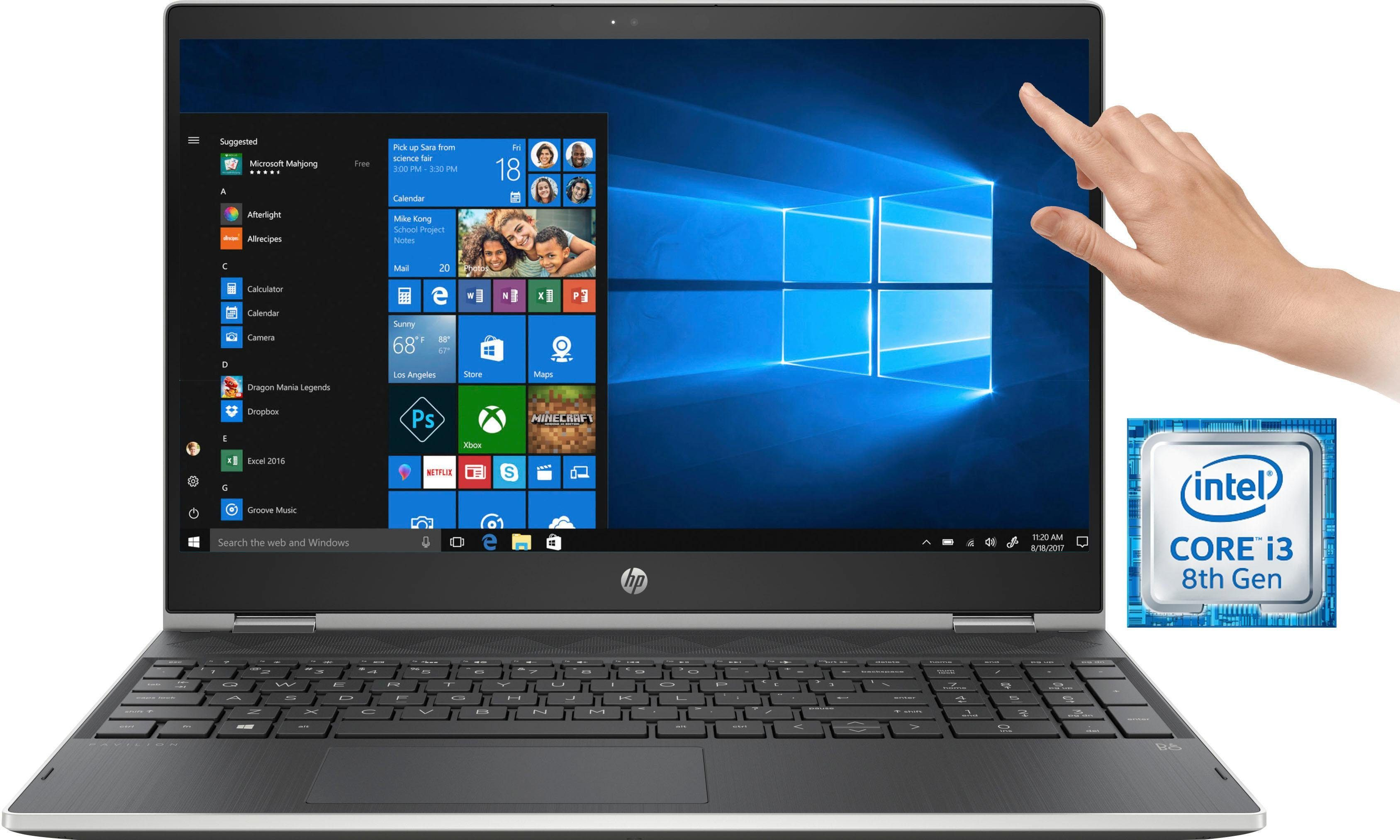 HP Pavilion x360 15-cr0216ng Notebook (39,6 cm/15,6 Zoll, Intel, 1000 GB HDD, inkl. Office 365 Personal (ESD)