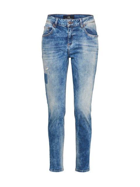 Damen LTB Tapered-fit-Jeans Mika blau | 08697600156392
