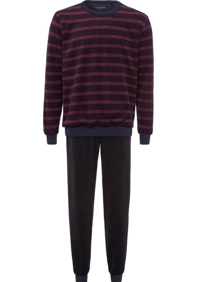 56fbac3f96 Schiesser Frottee Pyjama mit Bündchen lang kaufen | OTTO