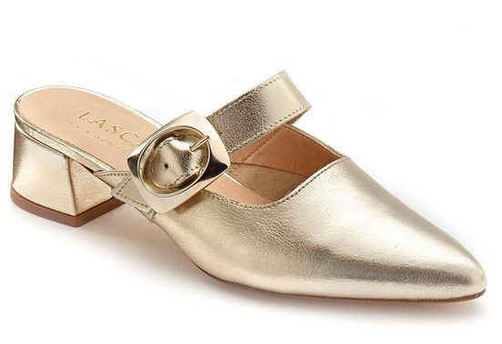 optik Metallic Lascana Leder In Pumps Aus mules YUYaqv