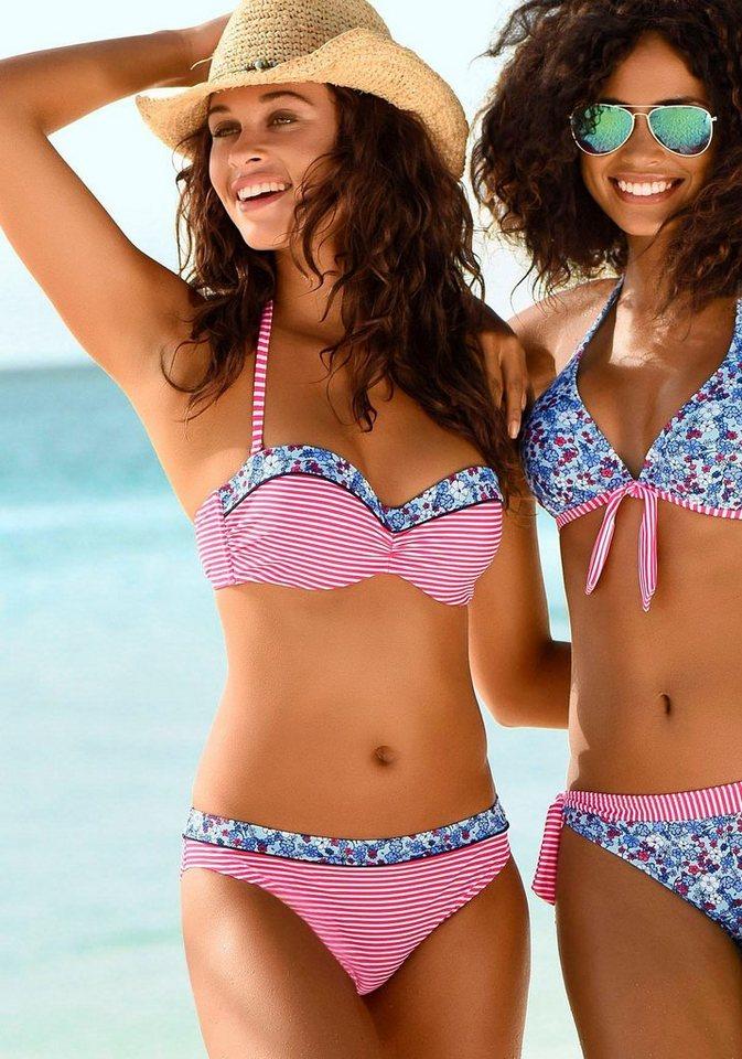Bademode - s.Oliver Bikini Hose »Jill«, mit Mustermix › rot  - Onlineshop OTTO