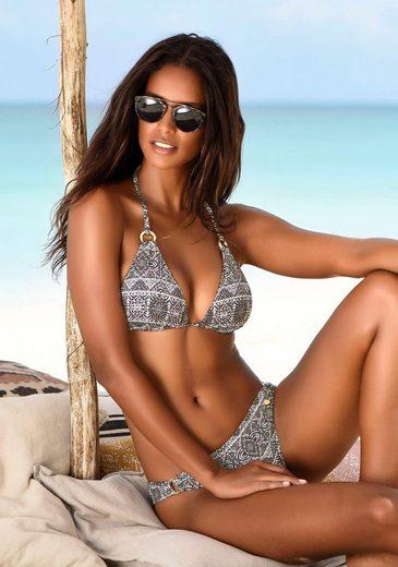 LASCANA Triangel-Bikini-Top »Giselle«, mit goldenen Zierringen
