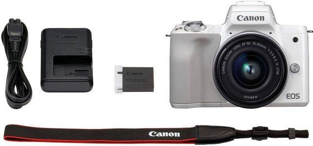 Systemkameras - Canon »EOS M50 EF M15 45 Kit« Systemkamera (EF M 15 45, 24,1 MP, NFC, WLAN (Wi Fi), Bluetooth, Rucksack CB BP100 32GB SD Class 10 10 € FGS)  - Onlineshop OTTO