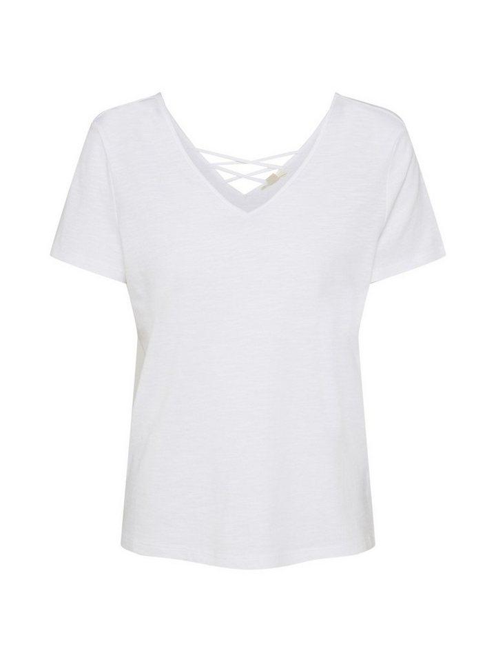 Esprit V-Shirt »Lacing Tee« | Bekleidung > Shirts > V-Shirts | Weiß | Esprit