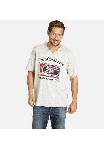 Herren Jan Vanderstorm V-Shirt Set: TORM (Packung 2er-Pack) in verschiedenen Designs grau | 04056916313471