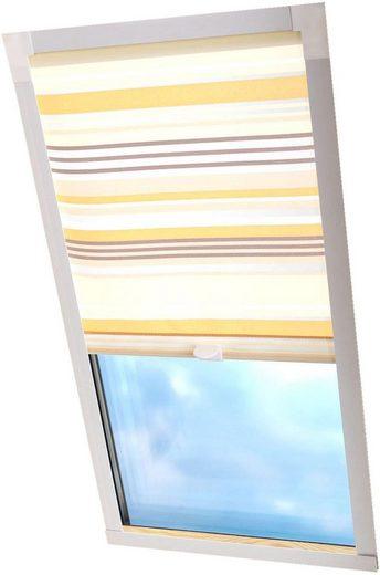 Dachfensterrollo »Dekor«, Liedeco, Lichtschutz, in Führungsschienen, Dachfensterrollo Dekor