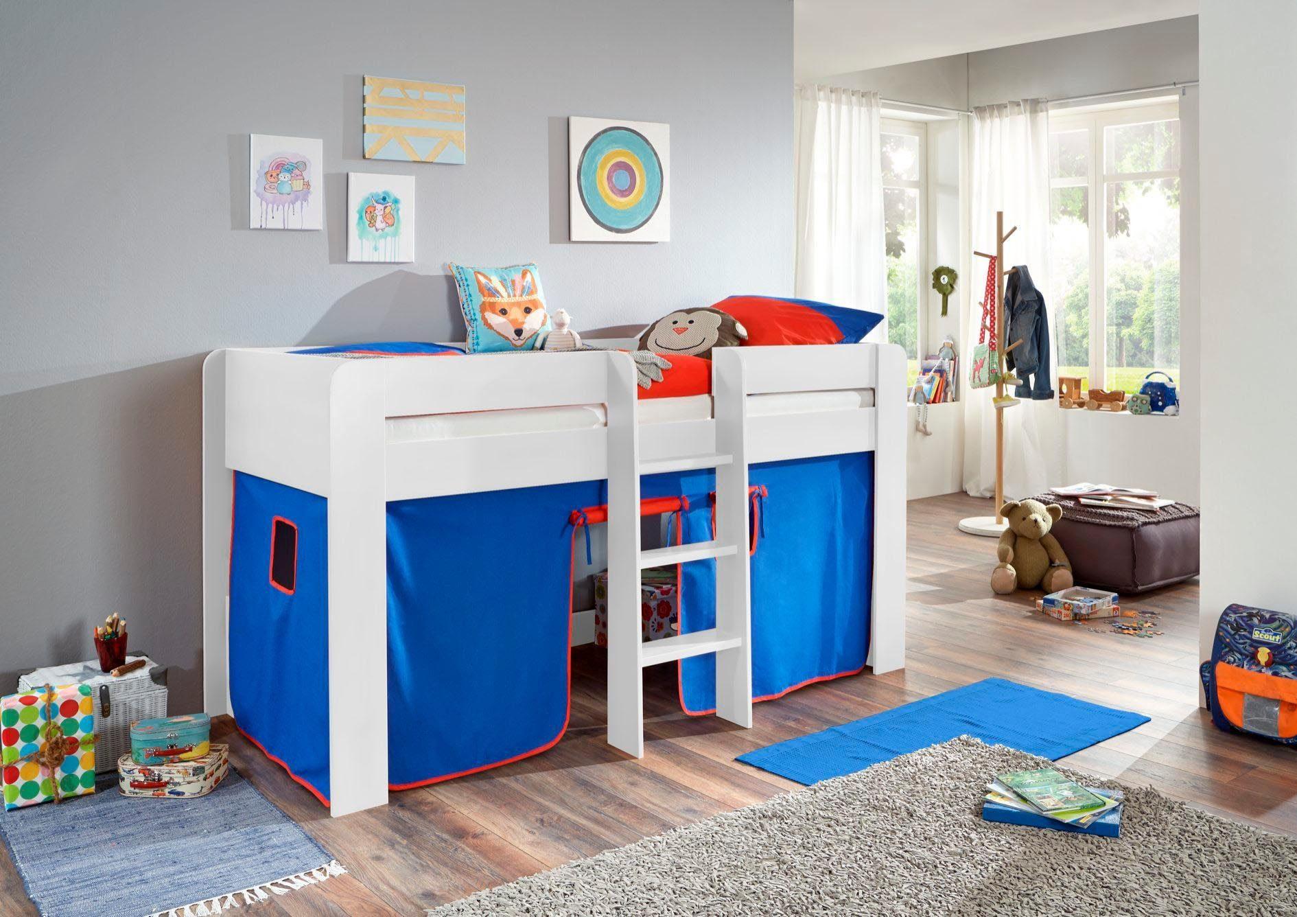 Etagenbett Vorhang Blau : Flexa vorhang blau hoch etagenbetten und andere betten von