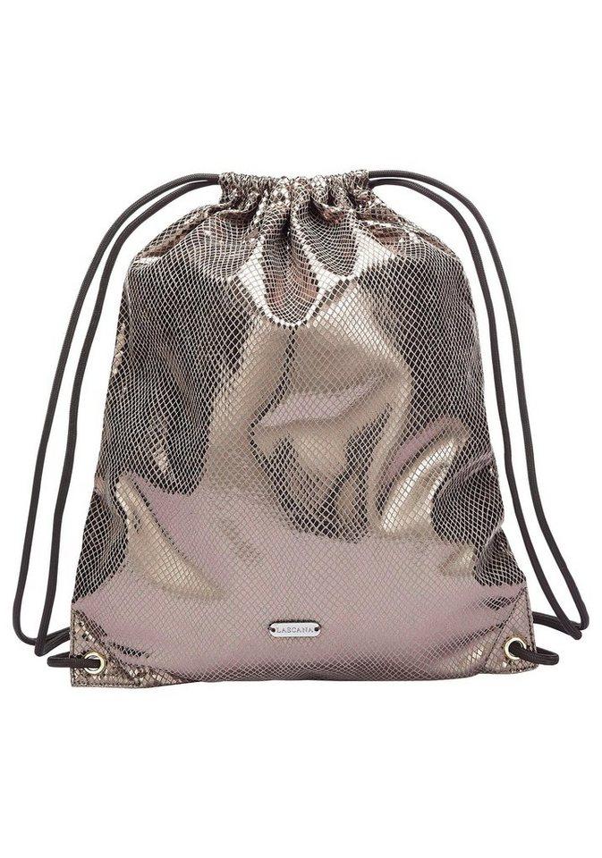 LASCANA Cityrucksack, Gym Bag aus glänzendem Material