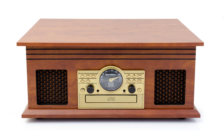 Karcher Nostalgie-Musikanlage mit Plattenspieler »NO-036«