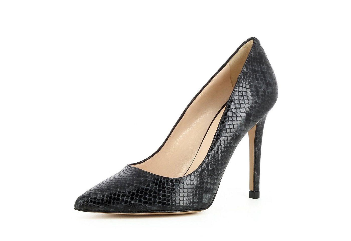 Evita »ALINA« High-Heel-Pumps | Schuhe > High Heels > High Heel Pumps | Grau | Leder | Evita