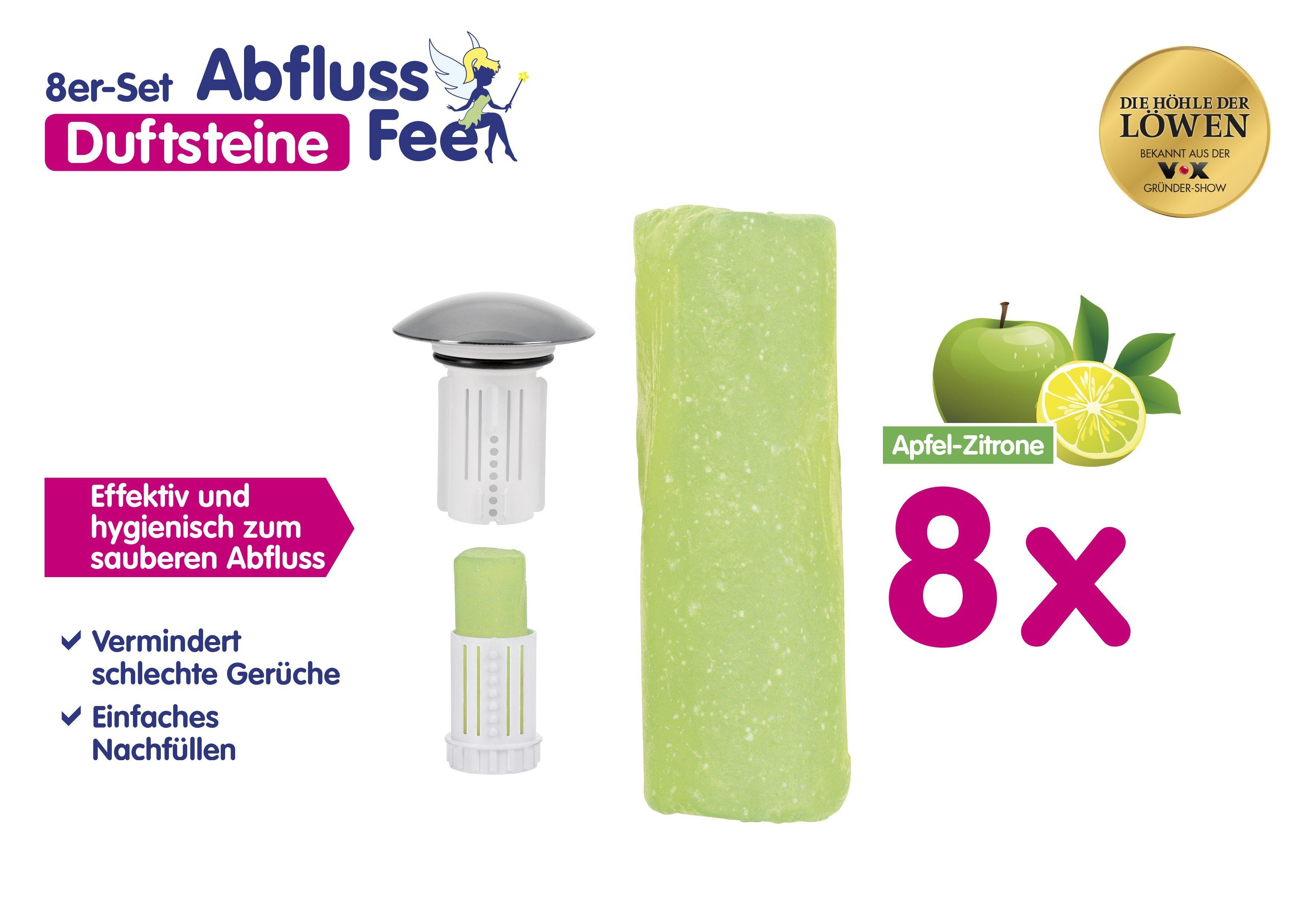 Abfluss Fee Duftstein 8er Set grün Apfel Zitrone