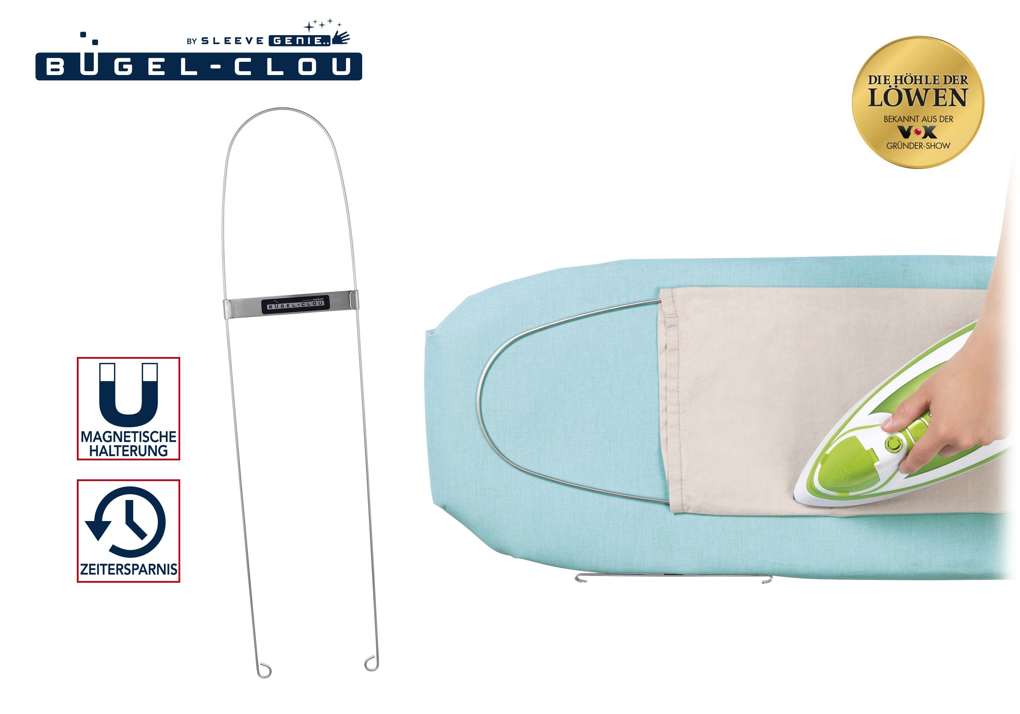 Bügelhilfe Bügel Clou 800 mm Edelstahl für Hosen