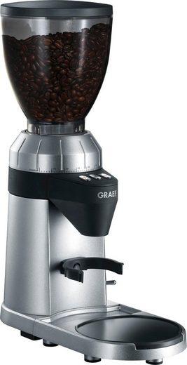 Graef Kaffeemühle Kaffeemühle CM 900, 128 W, Kegelmahlwerk, 350 g Bohnenbehälter, mit automatischer Dosierung, Aluminium Schaufelrad