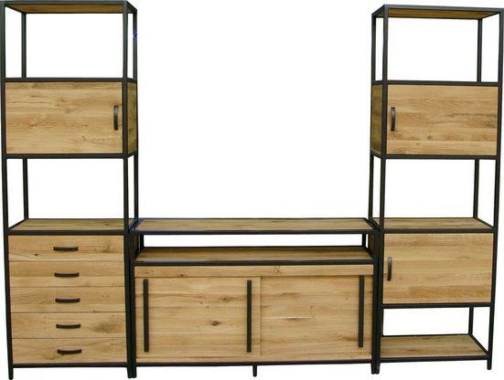 Premium Collection by Home affaire Lowboard »Sphinx« im industriellen Design aus Massivholz , Breite 140 cm