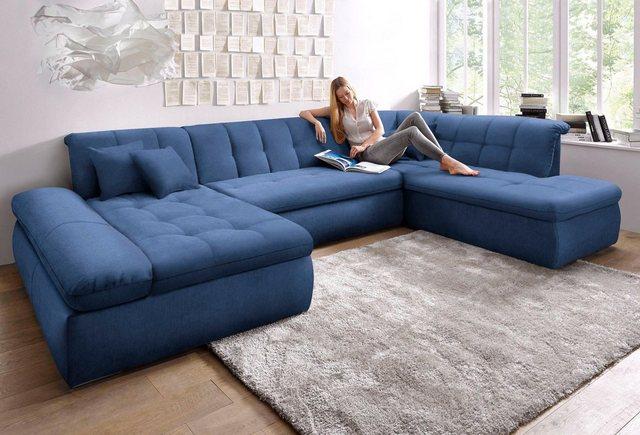Sofas - DOMO collection Wohnlandschaft, wahlweise mit Bettfunktion und Armlehnenverstellung  - Onlineshop OTTO