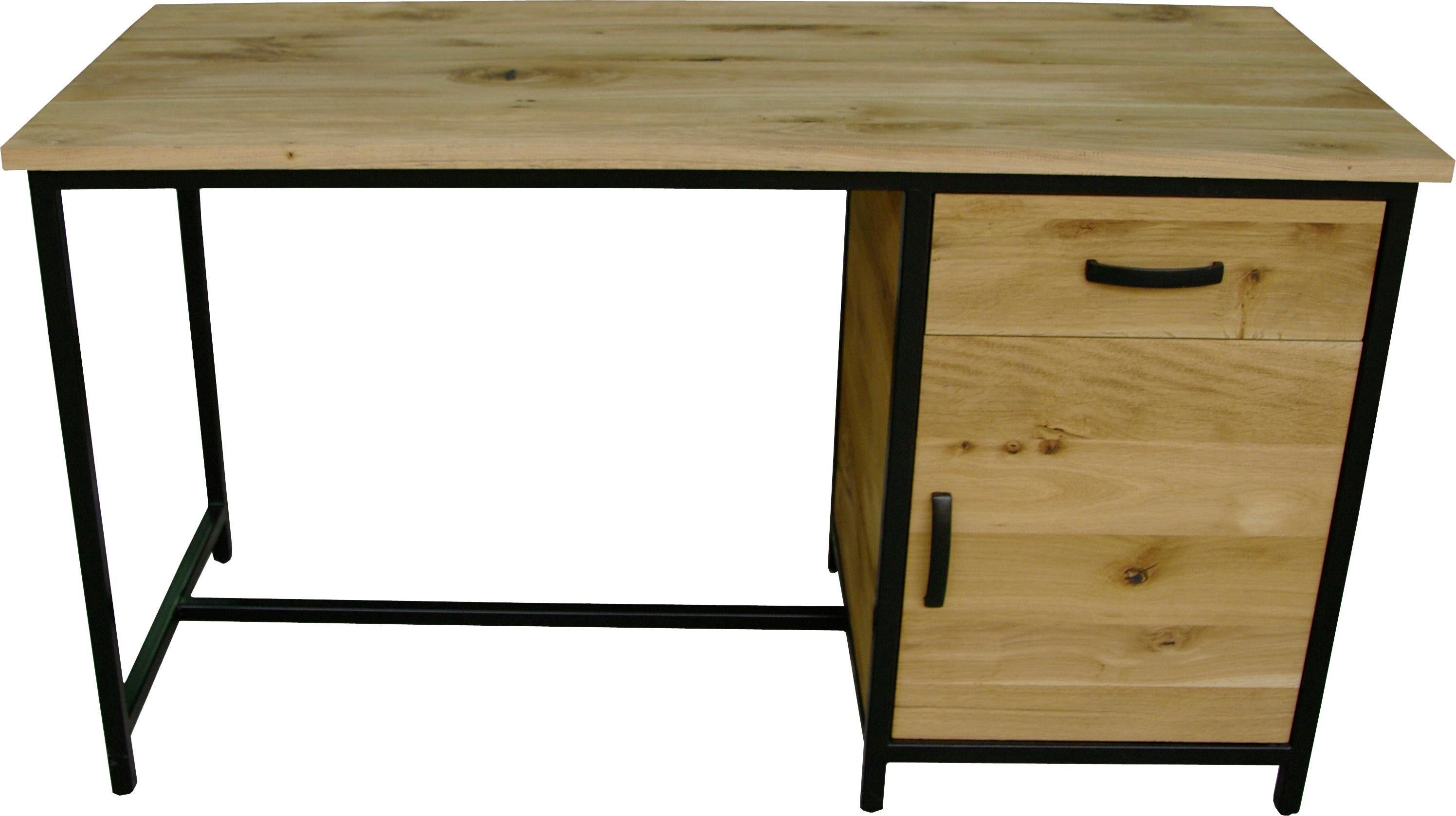 Premium Collection by Home affaire Schreibtisch »Sphinx« in industriellem Design aus Massivholz, Breite 140 cm