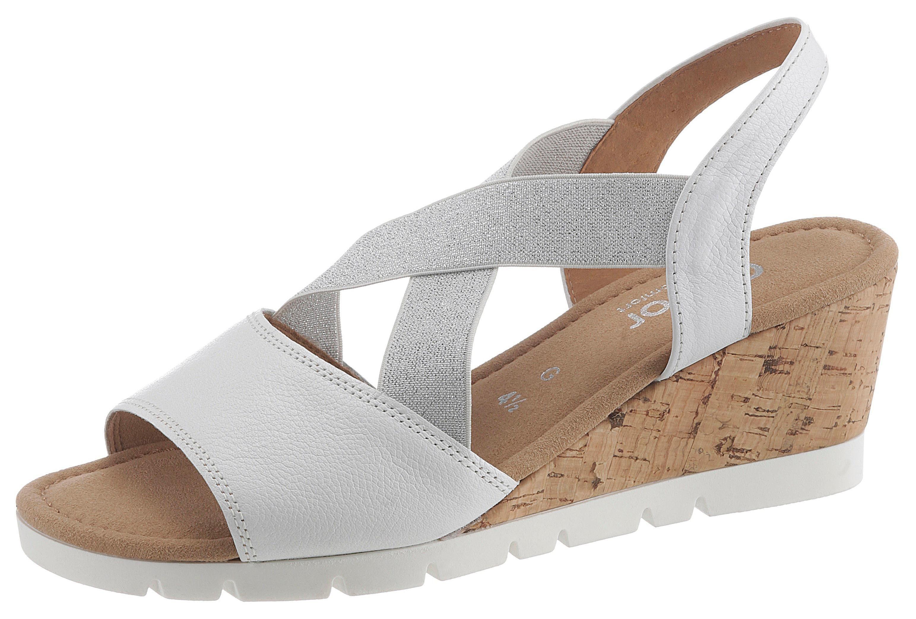 Gabor Sandalette mit glänzenden Stretchbändern