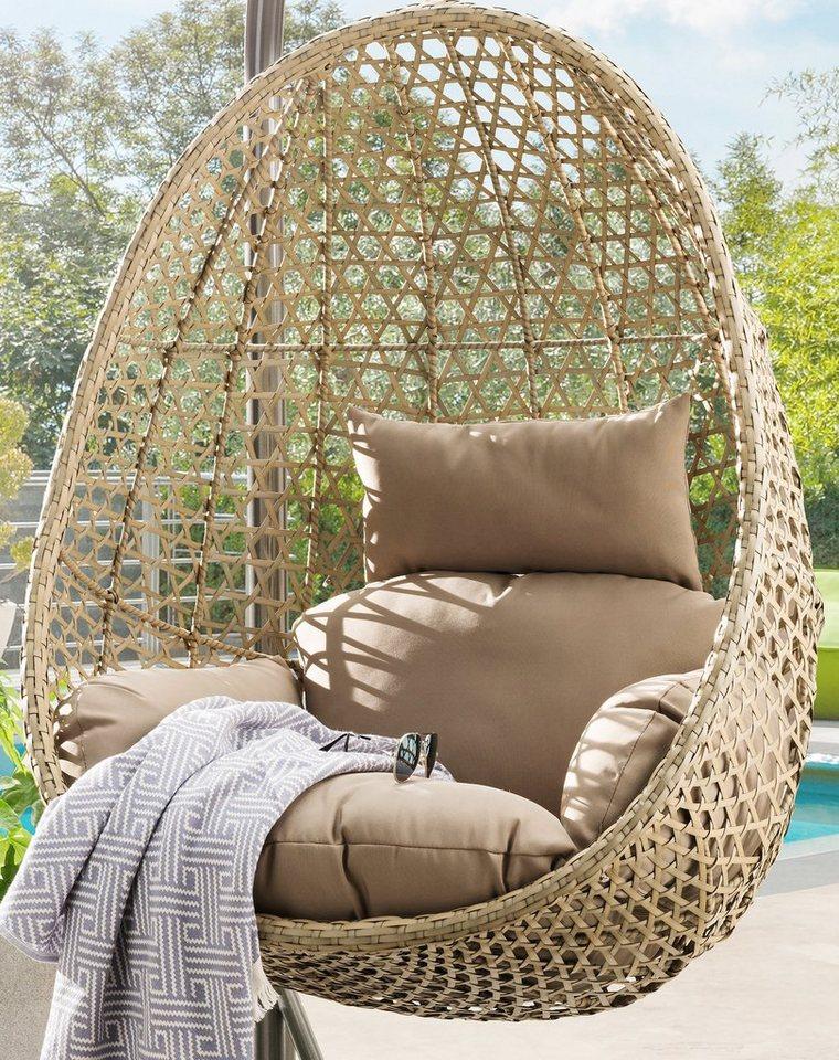 Destiny Hängesessel »Cocoon de Luxe«, Polyrattan, nur Korb ohne Gestell natur  Garten Sitzmoebel