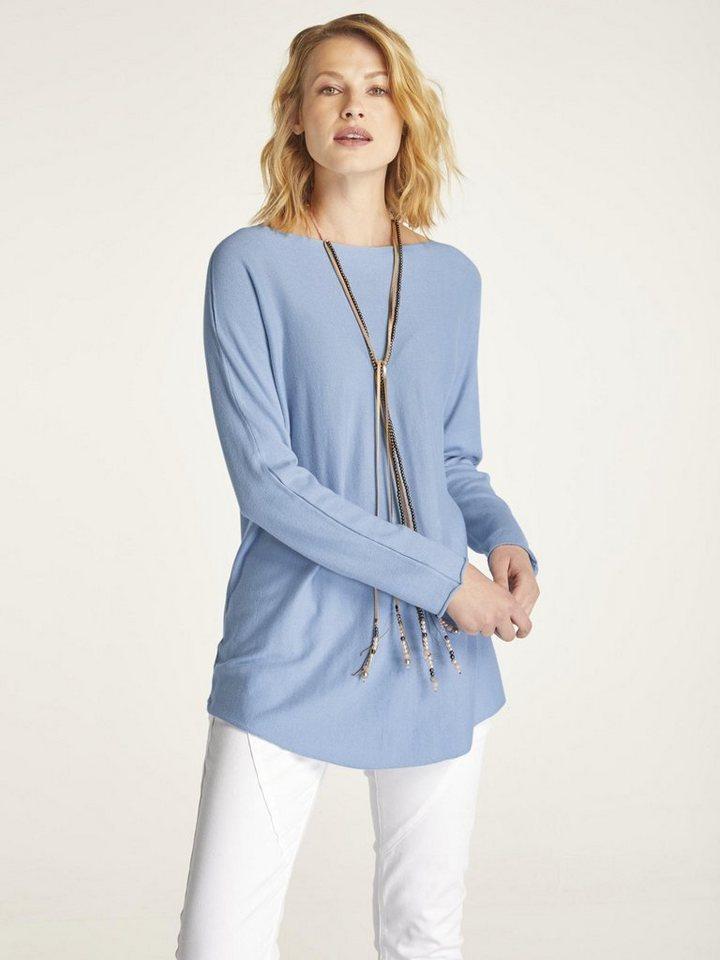 heine CASUAL Longpullover | Bekleidung > Pullover > Longpullover | Blau | heine