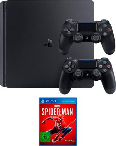 playstation 4 slim ps4 slim 1tb inkl spider man und 2. Black Bedroom Furniture Sets. Home Design Ideas