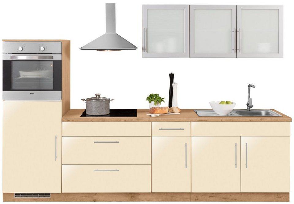 wiho k chen k chenzeile aachen mit e ger ten breite 290. Black Bedroom Furniture Sets. Home Design Ideas